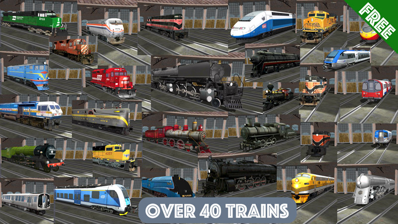 Train Sim 44 Trains Free