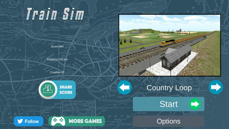 Train Sim New Menu