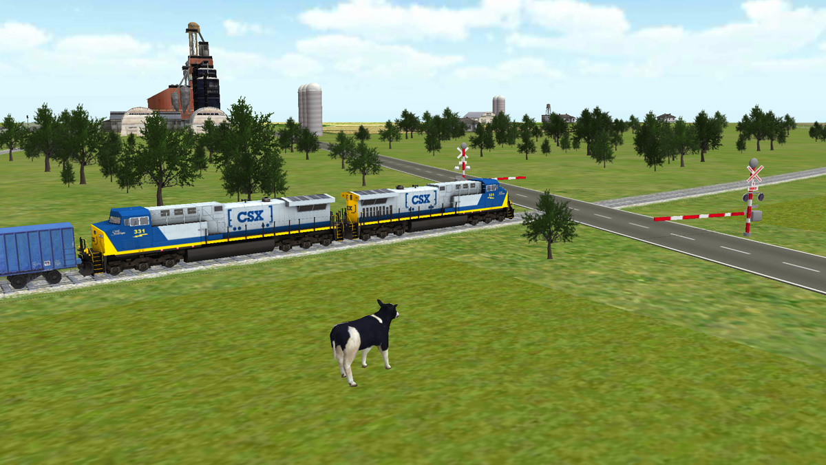 Train Sim New Farm Land Scene