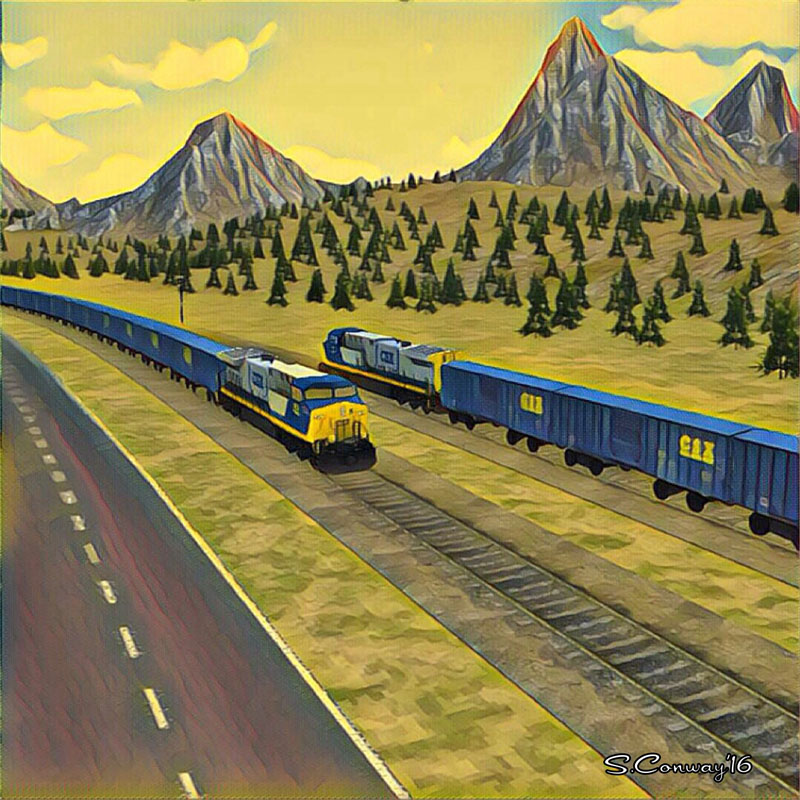 Train Sim Art Mountain Scene