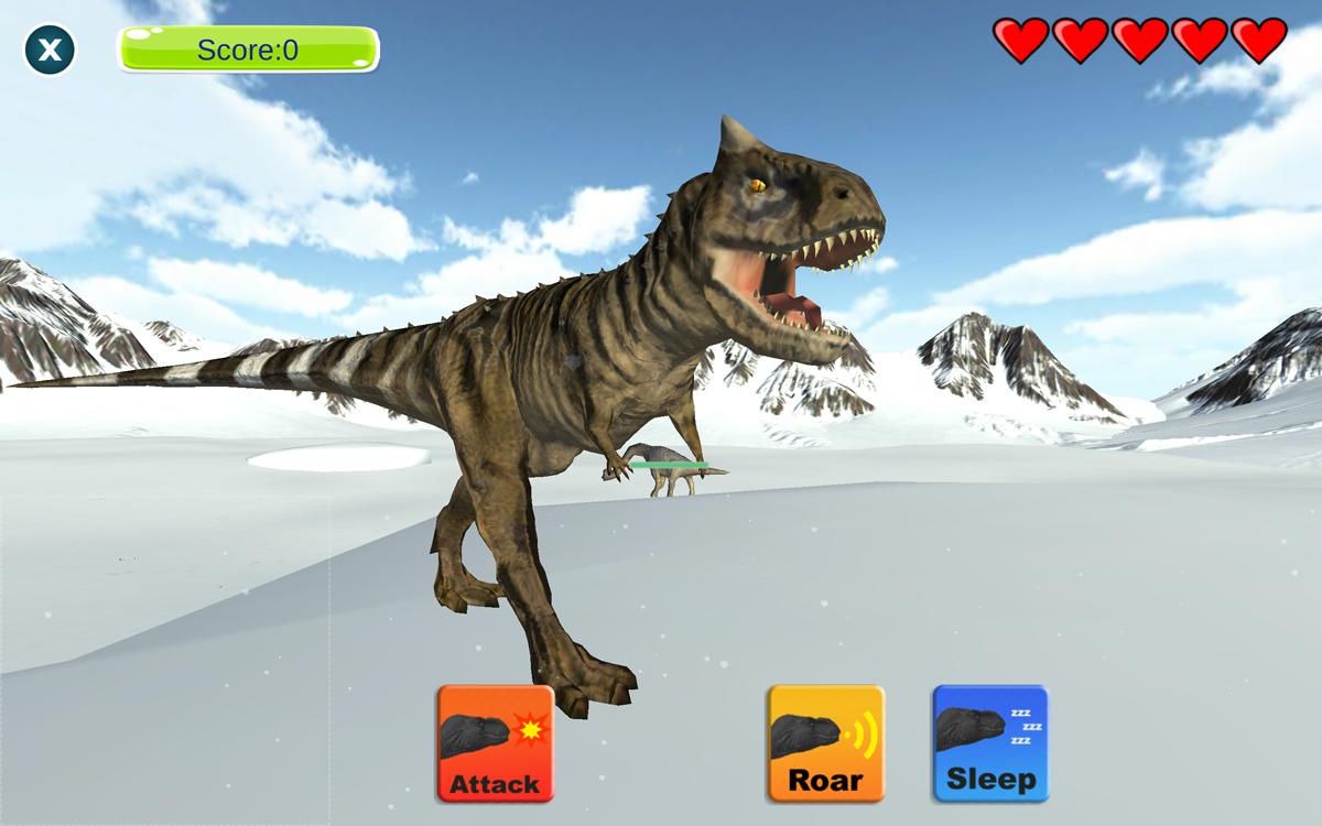 Dinosaur Sim Winter Scene
